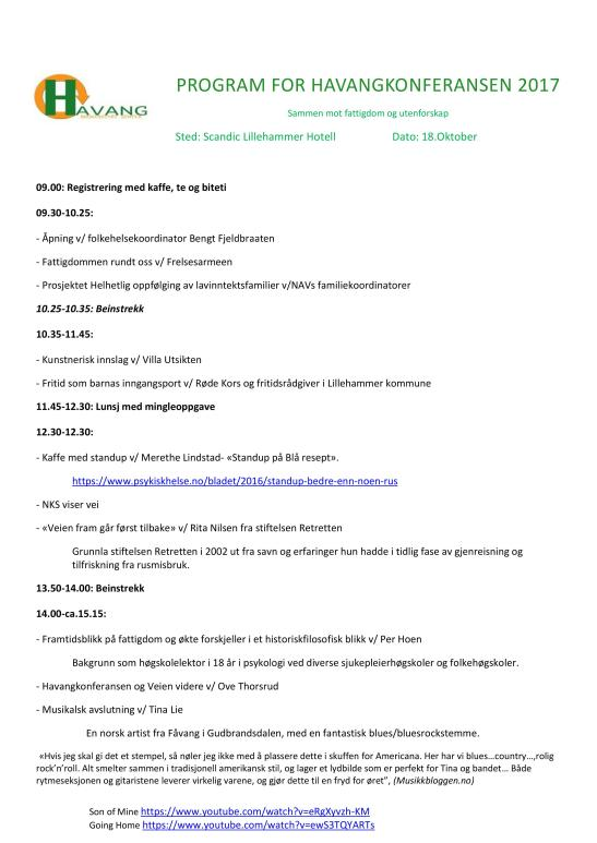 Program for Havangkonferansen 2017