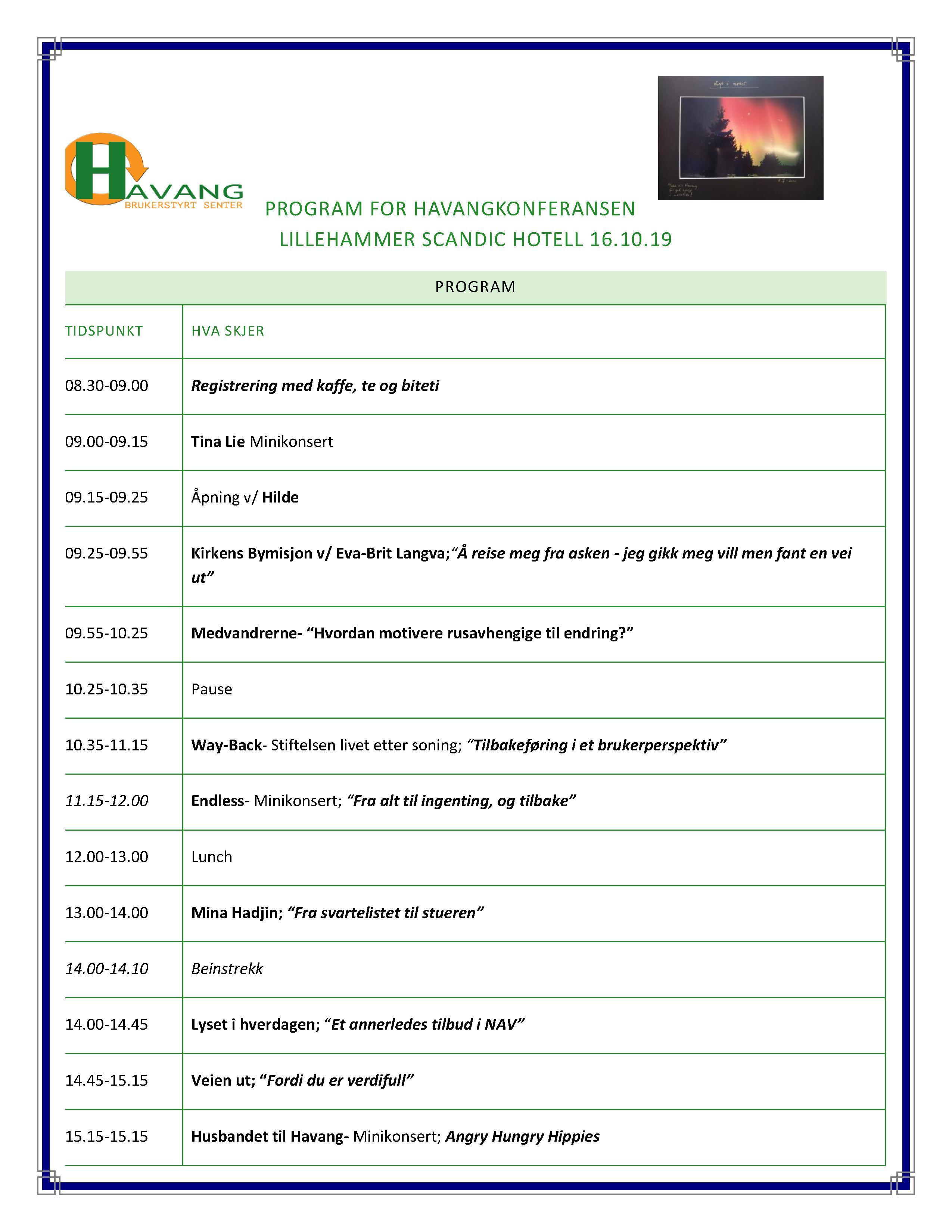 Program For Havangkonferansen