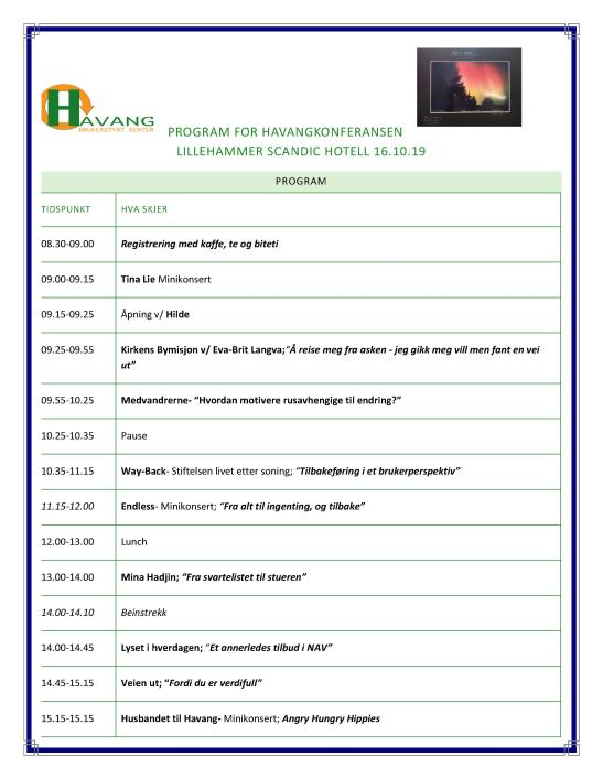 Program For Havangkonferansen