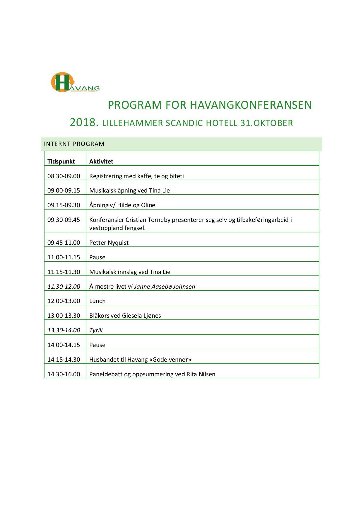 Program for Havangkonferansen 2018-page-001
