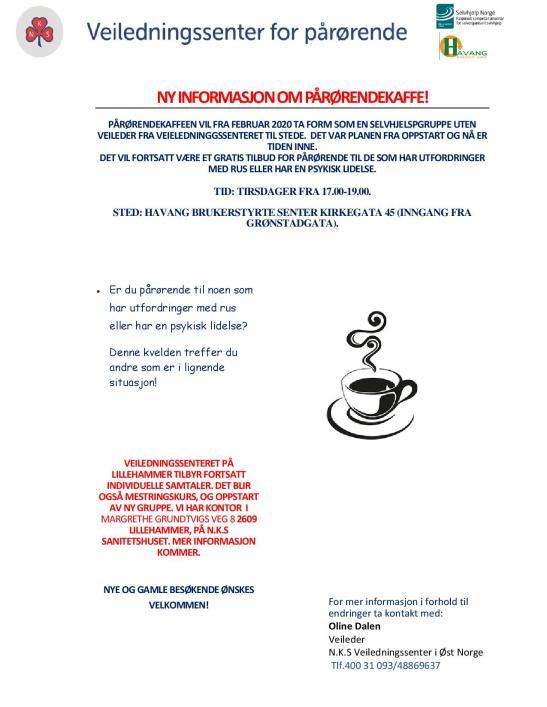 Pårørendekaffe Ny Info